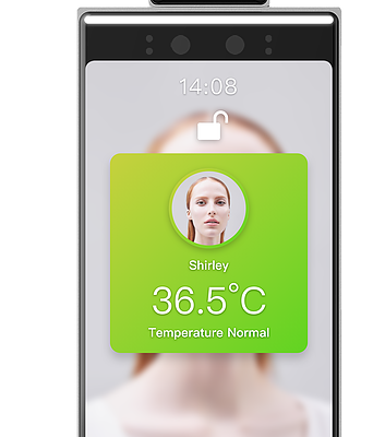 FACE RECOGNITION AND TEMPERATURE READER